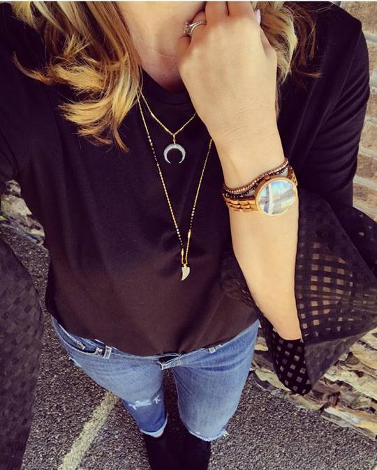 Cassia JORD watch and beaded bracelets