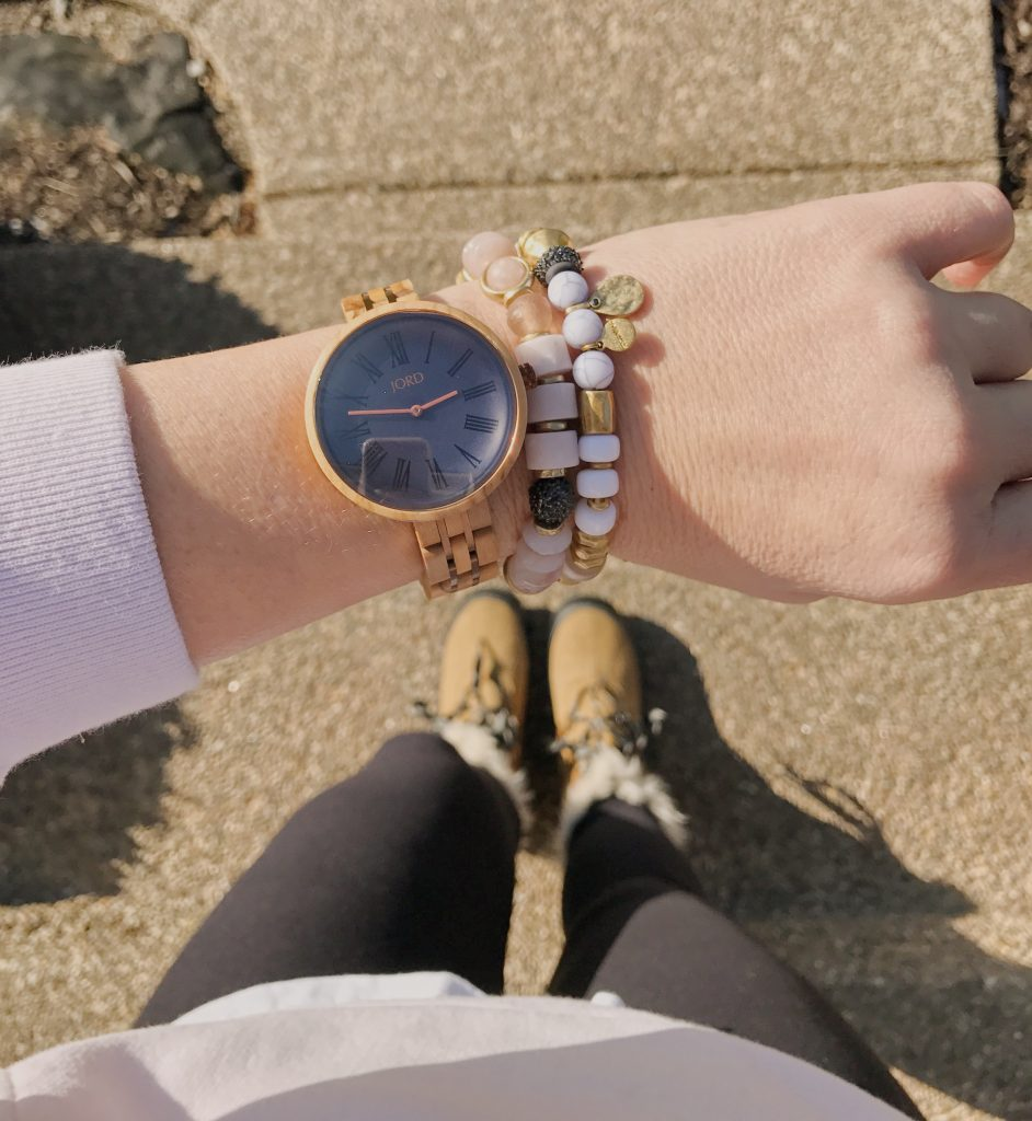 Cassia JORD watch paired with beaded bracelets