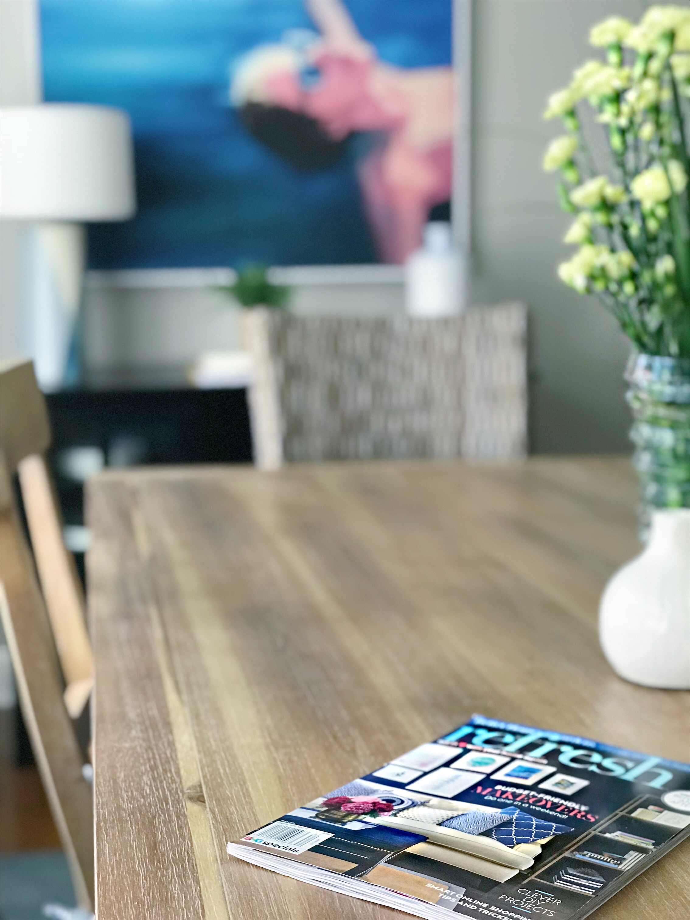 home magazine on table