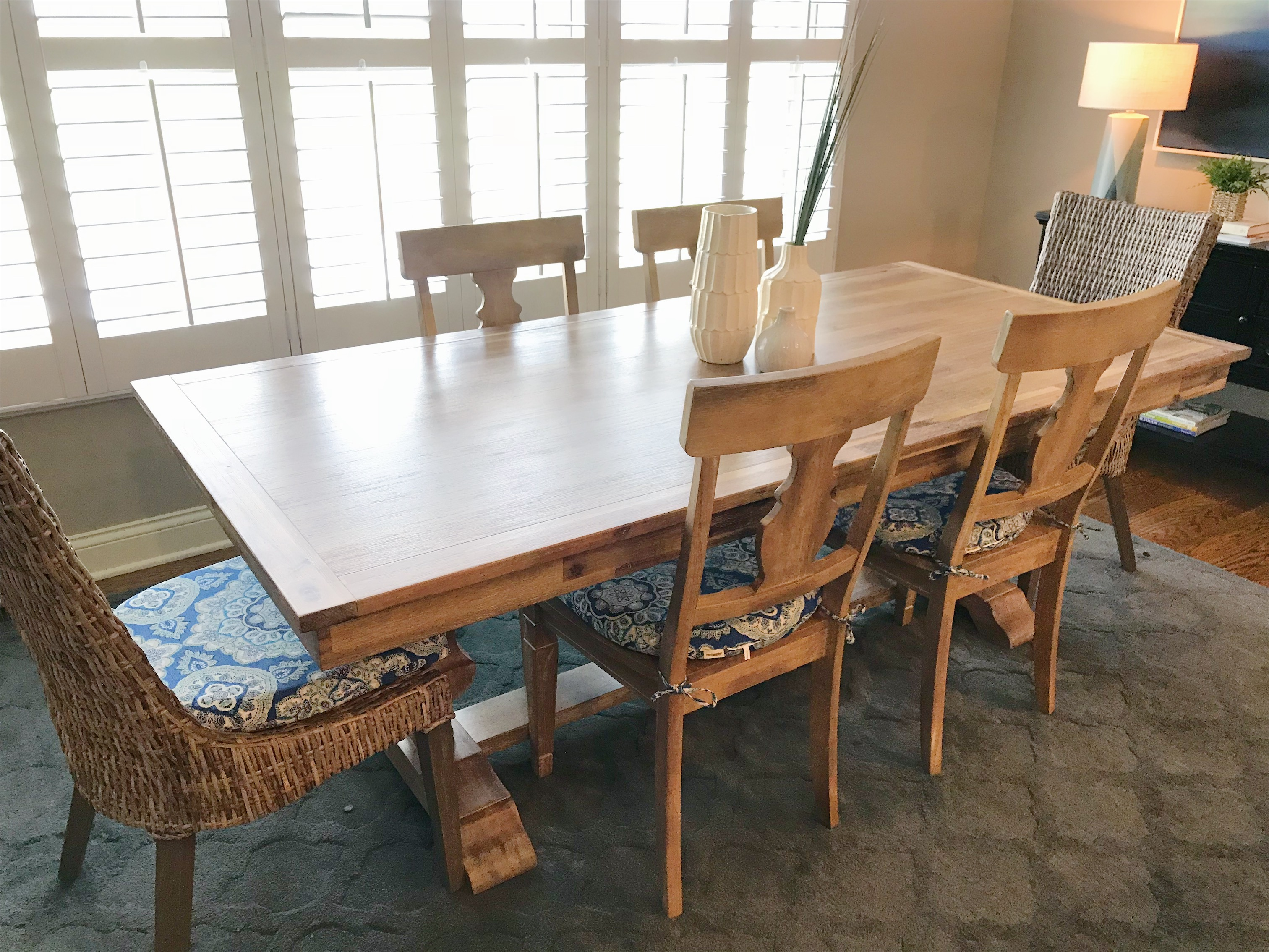 new dining table from pier 1