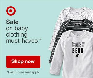 target baby sale ad