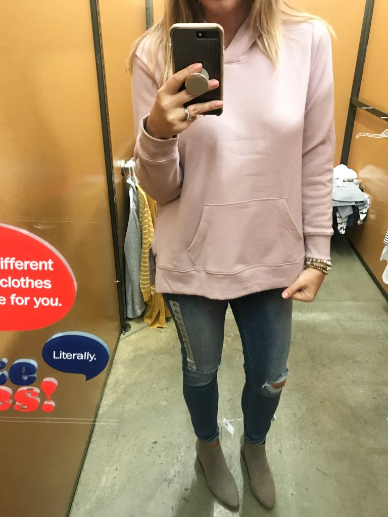 relaxed pullover sweatshirt in blush