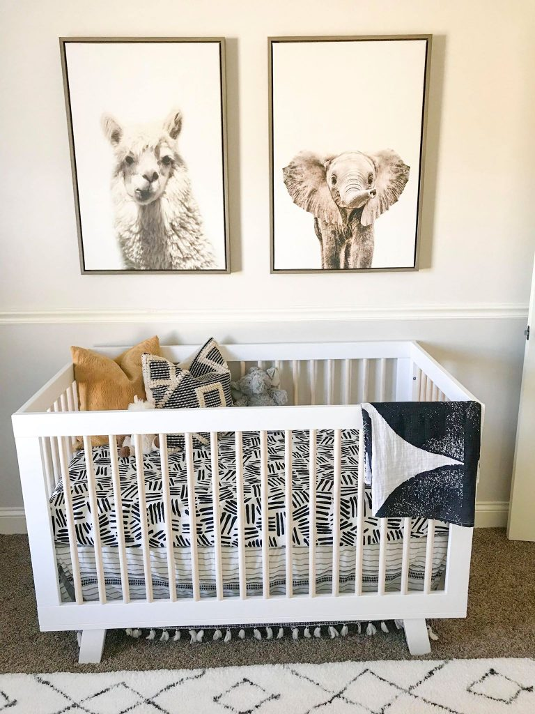animal canves and Babyletto crib