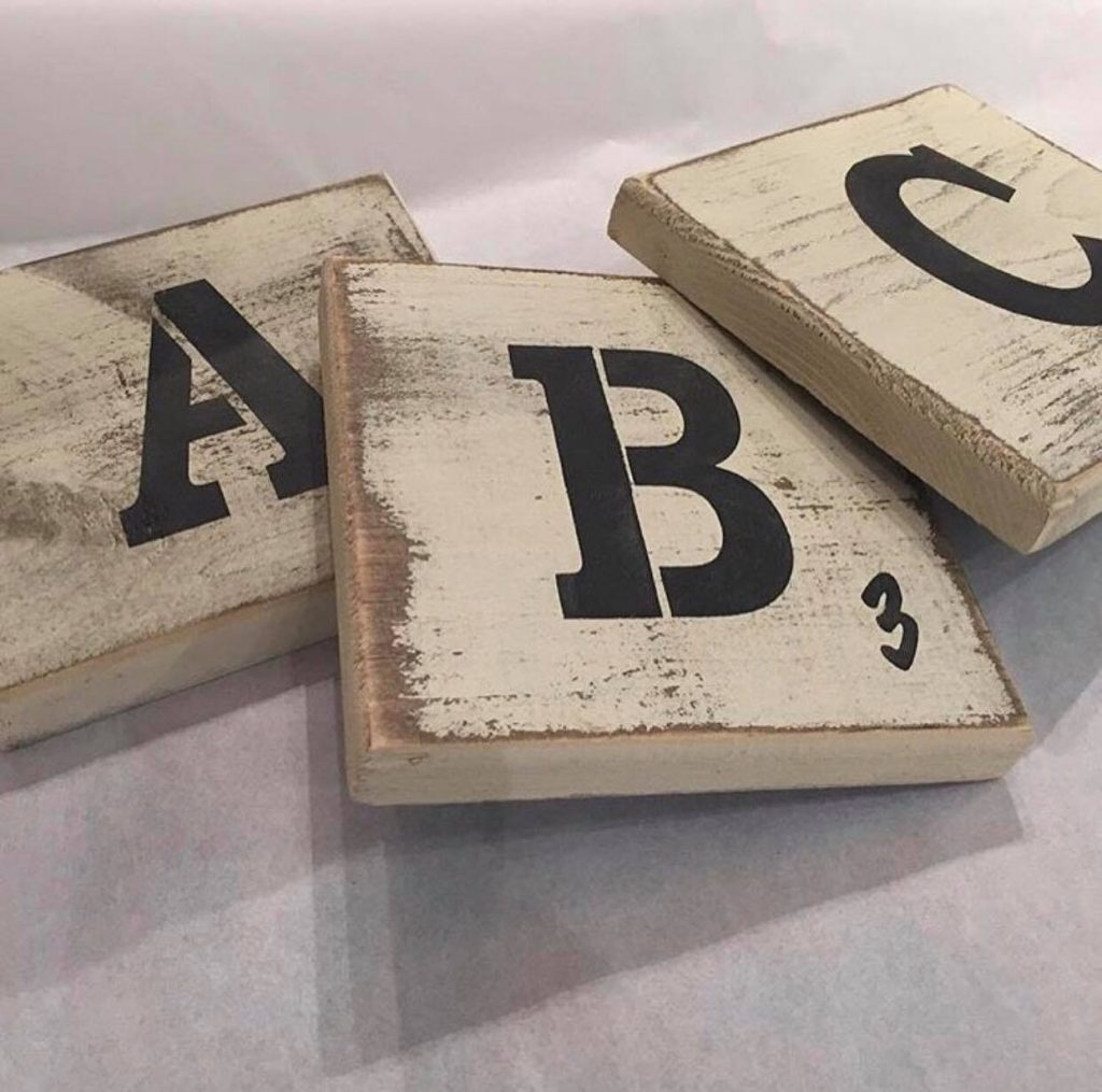 SCRABBLE LETTER BLOCKS