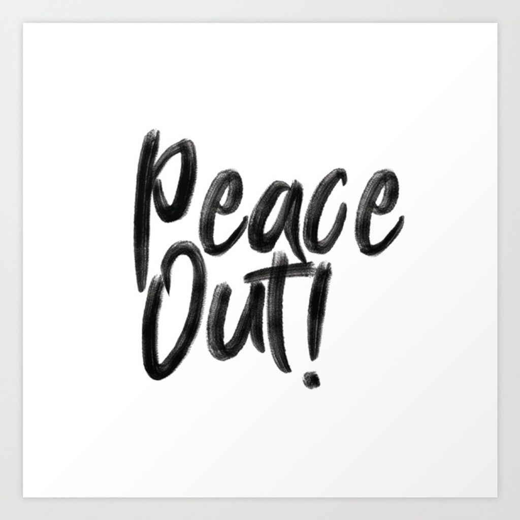 peace out word image